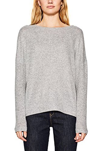 ESPRIT Damen Sweatshirt 117EE1J005, Grau (Light Grey 5 044), Medium