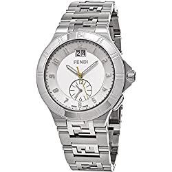 Fendi Men's 43mm Steel Bracelet & Case Swiss Quartz Silver-Tone Dial Analog Watch F477160B
