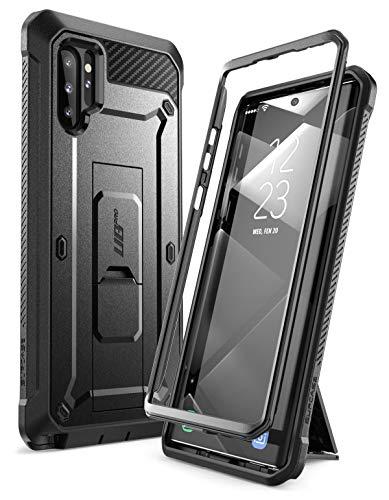 SUPCASE Handyhülle für Samsung Galaxy Note 10+ Plus Hülle Outdoor Case Bumper Schutzhülle Robust Cover [Unicorn Beetle Pro] OHNE Bildschirmschutz mit Gürtelclip & Ständer 6.8 Zoll 2019 Ausgabe, Schwarz