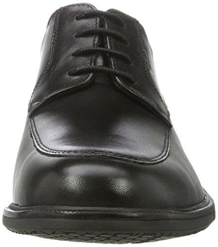 Rockport Essential Details Ii Apron Toe, Scarpe Oxford Uomo Nero (Black Leather)