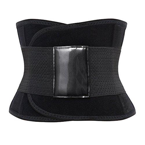 Frauen Nach Geburt figurformend elastisch Bauchweg Gürtel Bauchband Gurt Slim Belt Korsett schwarz (XL)