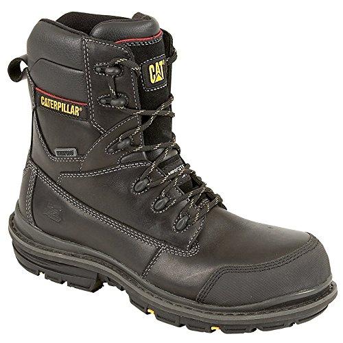 Caterpillar Mens Doffer Safety Work Boots Black Black