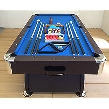 mesa de billar pool 8 ft carambola Medición de 220 x 110 cm juegos de billar azul