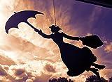 Mary Poppins als Hängefigur - Das Wohl berühmteste Kindermädchen der Welt Jetzt als Edelrost Deko kaufen- Dekofigur von Manufakt-Design