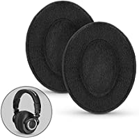 Brainwavz Replacement Memory Foam Earpads - Suitable For Many Headphones - AKG, HifiMan, ATH, Philips, Fostex, Grado, Sony Ear Pad (Black Velour), [Importado de Reino Unido]