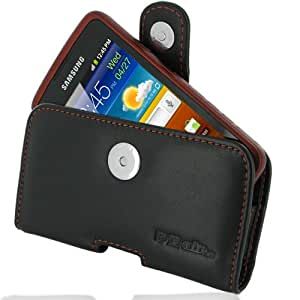 PDair P01 Black/Orange Stitchings Leather Case for Samsung Galaxy xCover GT-S5690