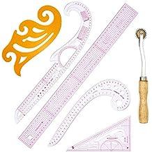 6 piezas de ropa de bricolaje medición de patrón de curva francesa reglas de clasificación patrón