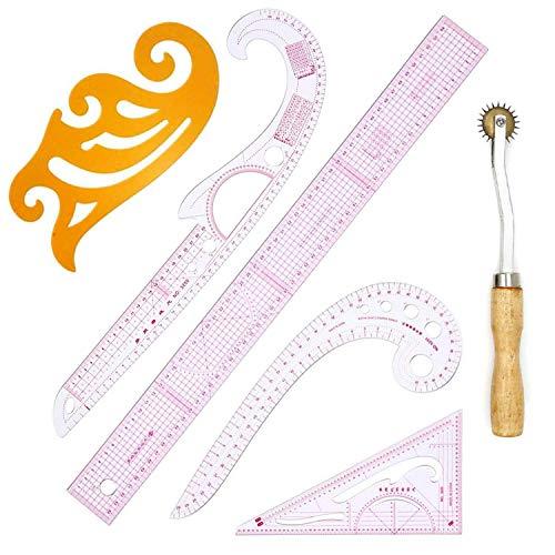 6 piezas de ropa de bricolaje medición de patrón de curva francesa reglas de clasificación patrón de diseño artesanal conjunto de herramientas de costura