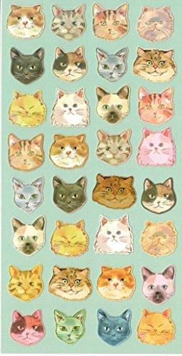 Colorful Katze Kitty Kätzchen Stilvolle Head Craft Scrapbooking Aufkleber Set für Diary, Album - Walmart-e-karte