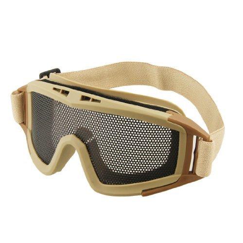 Khaki-objektiv (DealMux Metall Uni-Objektiv einstellbarer Haltebügel Brille Schutz Khaki für Kriegsspiel)