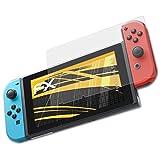 atFoliX Película Protectora para Nintendo Switch Lámina Protectora de Pantalla - 3 x FX-Antireflex anti-reflectante Protector Película