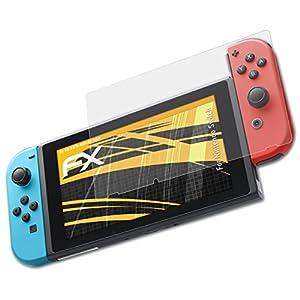 atFoliX Panzerfolie kompatibel mit Nintendo Switch Schutzfolie, entspiegelnde und stoßdämpfende FX Folie (3X)