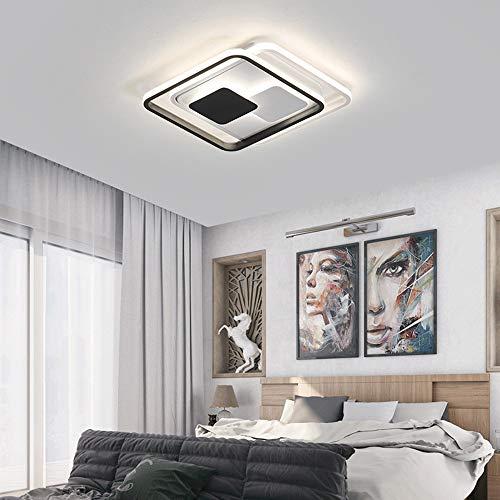 Wunderschön LED Kombinierte Quadratische Rechteckige Kronleuchter Aluminium Acryl Deckenleuchte Schwarz Weiß Gelb Warmes Licht Esszimmer Wohnzimmer Studie Schlafzimmer Komposition Einfache Moderne Geo