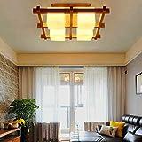LINGDIANFA- Kreative modernen minimalistischen neuen chinesischen Holzdecke Wohnzimmer Schlafzimmer Arbeitszimmer Lampe Büro Lampe Nordic Kunst