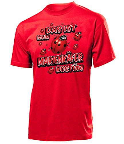 Marienkäfer Kostüm Herren T-Shirt Marienkäferkostüm 1585 Karneval Fasching Faschingskostüm Karnevalskostüm Tier Paarkostüm Gruppenkostüm Rot XL