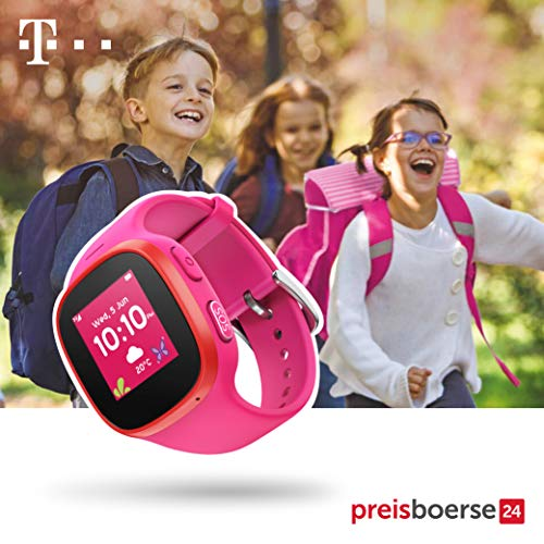 Telekom Kids Watch (rosa) - Smartwatch mit GPS-Tracker und SOS-Alarmknopf