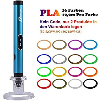 Kaufen Sie 3D-Stift bekommen PLA 16 Farben 12.2M Pro Farbe kostenlos ...