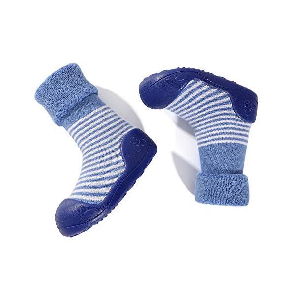 LACOFIA Zapatos de Calcetines Antideslizante de bebé niñas niños Botas de calcetín con Suela de Goma para bebé Unisex 5