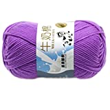Lisse Knitting Doux Lait Coton Naturel main Laine Yarn Baby Ball Craft-Cyan