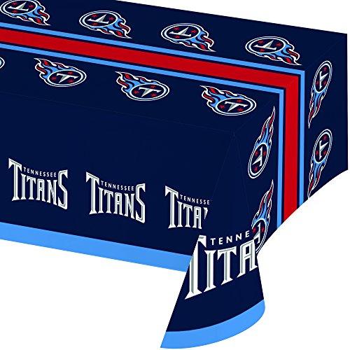 Creative Converting Offiziell lizenzierte NFL bedruckte Kunststoffbecher, 8 Stück, 570 ml, Tennessee Titans Tablecover (Nfl Party Supplies)