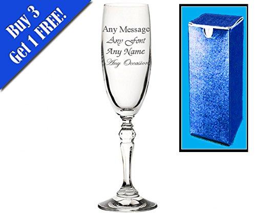Incisione personalizzata charleston flute 170,1gram (17CL) Il  ° compleanno anniversario nozze