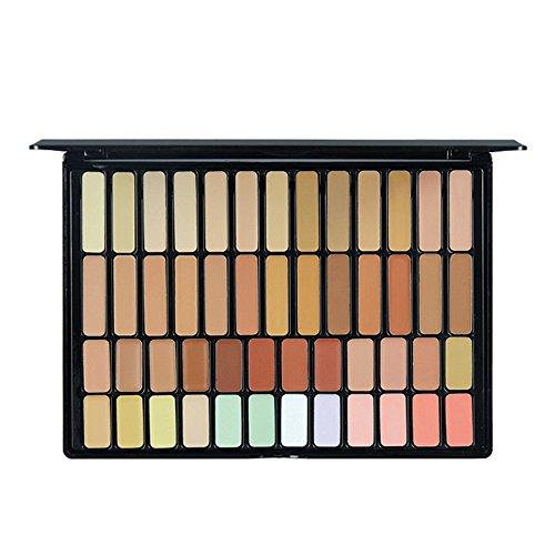 Scrox 50 couleurs Correcteur professionnel maquillage du visage Cosmétiques Blush Puff Cadeaux de Noël