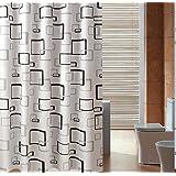 PEIWENIN-Cortina de ducha gruesa caliente impermeable del cuarto de baño cortinas del tocador de la cortina de ducha del cuarto de baño, anchura: 300 * alta: los 200cm