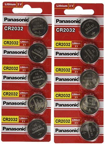 Panasonic Cr2032 3V Lithium Knopfzellen DL2032 Ecr2032 10 Stück Panasonic Cr2032 3v Batterie