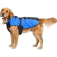 Bwiv Hunde Jacke Winter Wasserdicht Verstetllbar Hundemantel Winddicht Reflektierend Streifen Winterjacke Wintermantel…