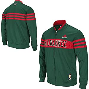 Adidas Milwaukee Bucks Walter Brown Collection On-Court Jacket - Green - Small