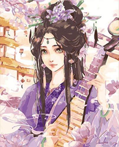 Kostüm Alte Shanghai Das - srtyu Handgemaltes Ölgemälde Alten Kostüm Hanfu handgemalte Färbung Bild Mädchen Schlafzimmer Alten Stil Mädchen