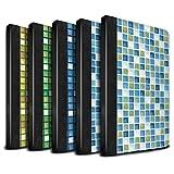 STUFF4 PU-Leder Hülle/Case/Brieftasche für Apple iPad Mini 1/2/3 tablet / Pack (15 Modelle) Muster / Bad Fliesen Kollektion