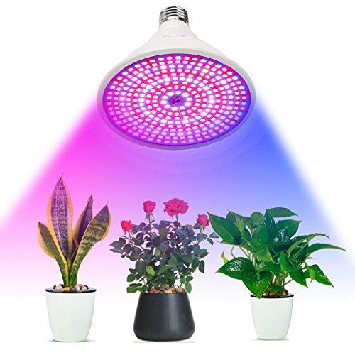 @Pflanzen Lichter Vollspektrum Pflanzenwachstum Glühbirne Tisch Halter Set, Flexible Schwanenhals Wachstum Zimmerpflanzen Aussaat, Beleuchtung Garten Gewächshaus Hydrokultur (E27)