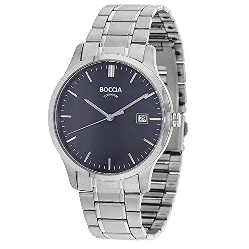Boccia Herren Analog Quarz Uhr mit Titan Armband 3595-04