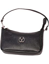 Ystore Genuine Leather Sling Bag - Black - B06XQFBTGX