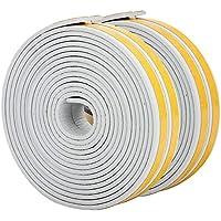 Bande de Joint I-Profil, Auto-Adhésif, Anticollision, Imperméable, Joint de porte en mousse Bande de joint d'étanchéité en caoutchouc pour - 9mm x 2mm x 2.5m, 4 joints Total 10M (Grey)
