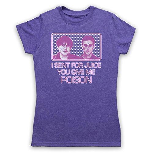 Inspiriert durch Happy Mondays WFL Wrote For Luck Unofficial Damen T-Shirt Jahrgang Violett