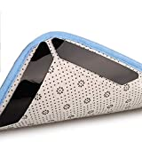 Teppich Greifer - Anti Rutsch Teppich Pad, kleine und mittlere Größe Teppich Stopper, wiederverwendbare klebrige Teppich-Pad (4pcs Dreieck and 8pcs Trapez, schwarz)