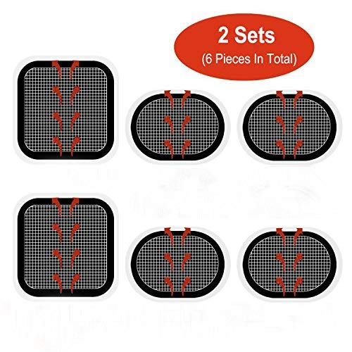 Electrodos Electroestimulador Almohadillas Electrodos Pads, Novatech Electrodos Body Pads Gel Adhesivo para Slendertone Series Abdominal Belts