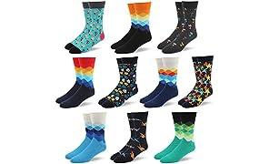 RioRiva chaussettes classique tendance pour homme formel en coton peigné à motifs géométriques colorés grande taille différents motifs et coloris disponible.
