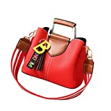 TianWlio Handtasche Damen Mode Quasten Umhängetasche Umhängetasche Messenger Bag Handtasche Wein
