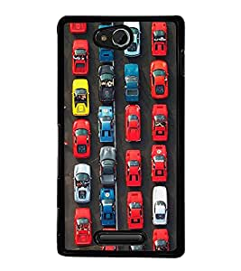 Cars 2D Hard Polycarbonate Designer Back Case Cover for Sony Xperia C :: Sony Xperia C HSPA+ C2305