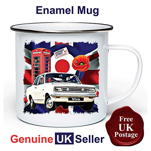 Vauxhall Viva 11 oz Enamel Camping Mug