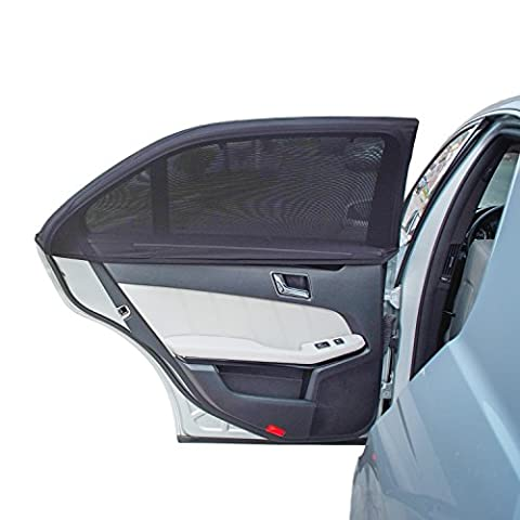 TFY Universal Car Side Window Baby Sun shade - Protects Your Kids for Sun Burn - Double Layer Design - Maximum Protection - Fit Most of Vehicle, Most of sedan, Ford, Chevrolet, Buick, Audi, BMW, Honda, Mazda, Nissan and other - 2 Pieces