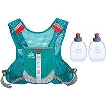 Lixada Hydratation Weste Rucksack/Sport Reflektierende Weste für Trailrunning/Marathon(Mit 2 * 170ml Flasche (Optional))
