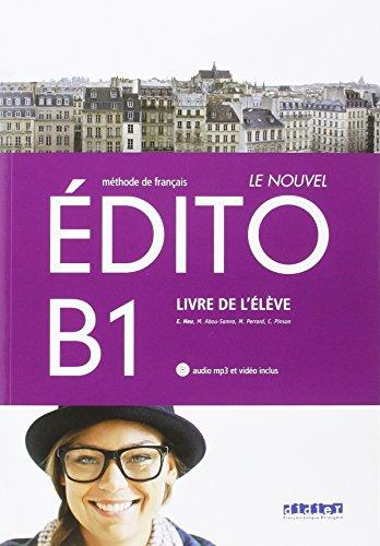 LE NOUVEL EDITO B1 ELEVE+CD+DVD - 9788490492062 por Vv.Aa