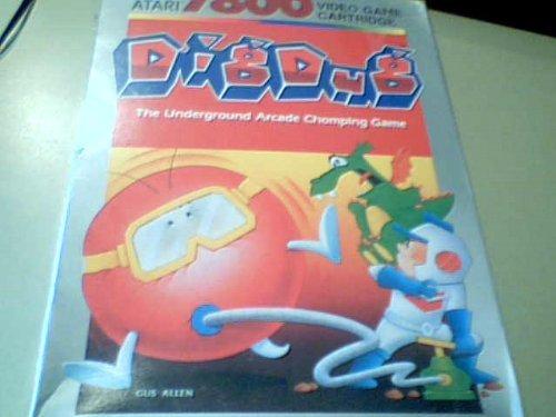 1987 Atari Corporation Atari 7800 Dig Dug Video Game Cartridge #Cx7803 Blister Box Package (Atari Is a Registered Trademark and 7800 Is a Trademark of Atari Corporation Dig Dug, Fyger, and Pooka Are Trademarks of Namco Ltd., Created and Designed By Namco Ltd., and Manufactured Under License By Atari Corporation---copyright 1987, Atari Corporation Sunnyvale, Ca 94086 All Rights Reserved---printed in Hong Kong/made in China) by Atari (Dig-box)