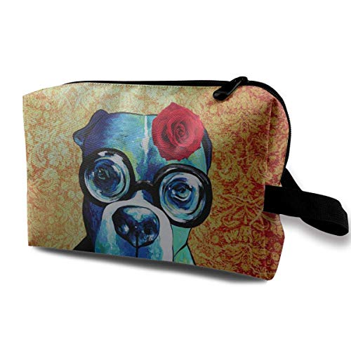 Boxer Dog Dog Lover Gift Toiletry Bag Womens Travel Cosmetic Bags Lightweight Waterproof Case - Elsa-boxer