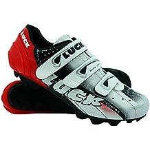 LUCK Zapatillas de Ciclismo Extreme 3.0 MTB,con Suela de Carbono y Triple Tira de