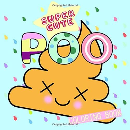 dia del libro kawaii Super Cute Poo Coloring Book (Super Cute Kawaii Emoji Coloring Books)